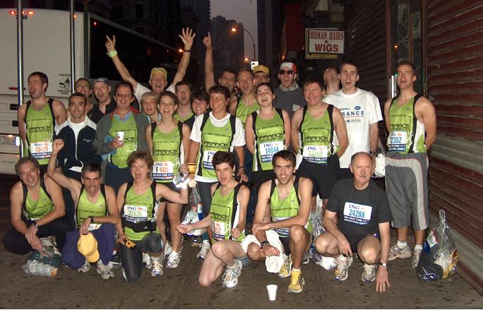 L'équipe marathon de l'Université Lyon 1 au marathon de New-York 2005