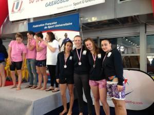 Podium Relais filles 4X50 4 nages 3ème