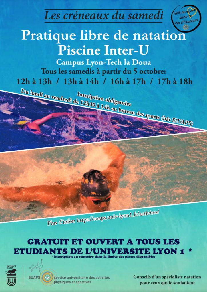 Affiche pratique autonome natation