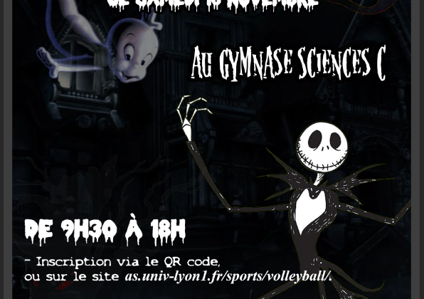 Affiche samedi du volley Halloween